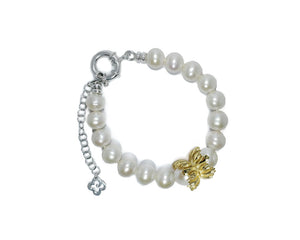 Gold Plated Bracelet for Women side down | Kukka Jewelry