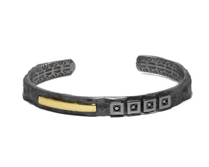 Black Gold Bracelet for Ladies | Blaze Magma Centigrade | Kukka Jewelry
