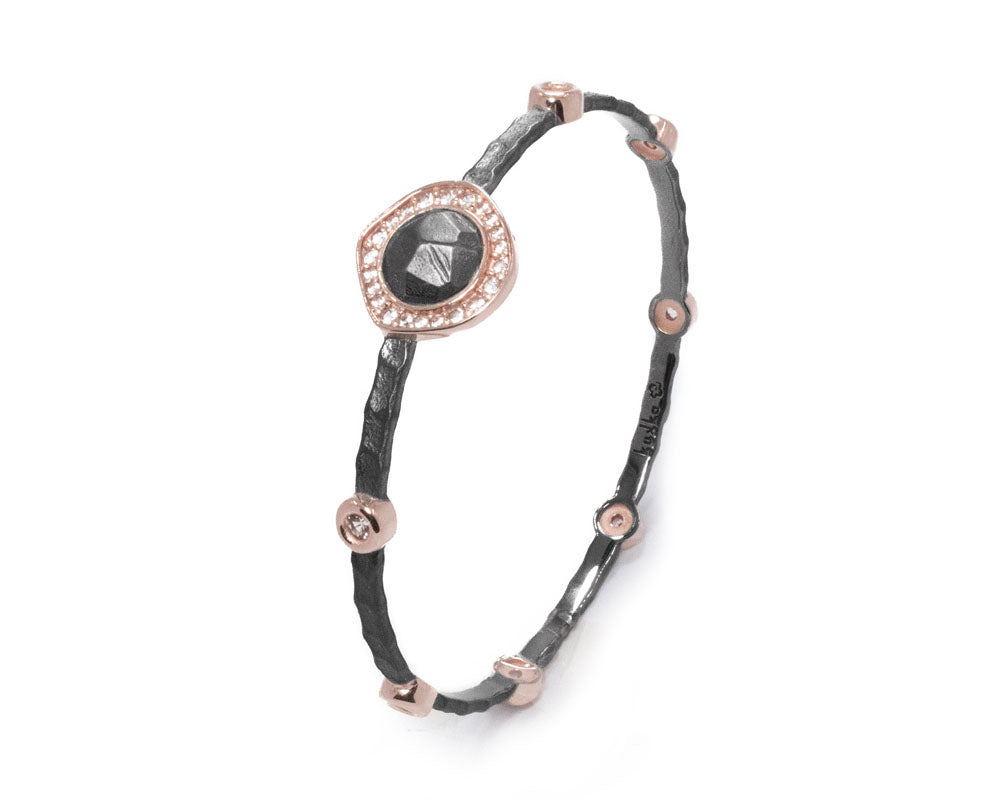 18kt Rose Gold Plated Bracelet for Her 'Basalt Hotspot'