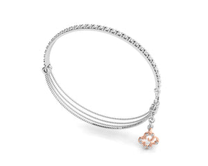 Bracelet for Ladies | Kukkadas Shadow Embrace | 18kt Pink Gold | Kukka Jewelry