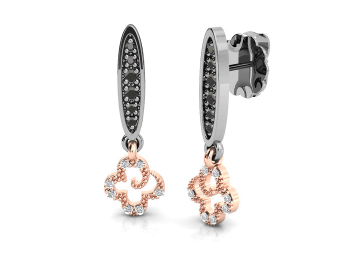 Ladies' Earrings 18kt Rose Gold Plated 'Kukkadas Shadow Fun in the Sun '