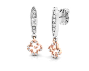 Girls' Earrings Pink Gold Plated 'Kukkadas Silver Fun in the Sun '