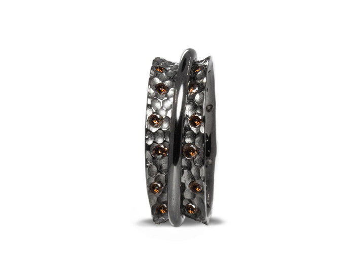 Rhodium Silver Plated 'Shadow Gold Fellowship ' Girls' Ring