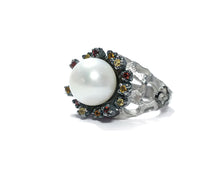 Girls' Ring | Alma Perla Black | Kukka Jewelry