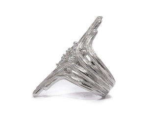 Sweet Vanilla Fantasy left side | Girls' Ring | Kukka Jewelry