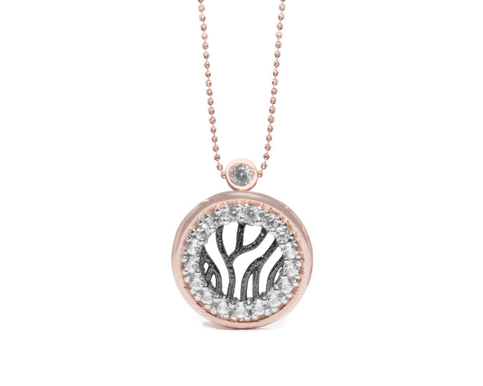 Pendant for Her | Woods Circle in Rose Gold | Kukka Jewelry