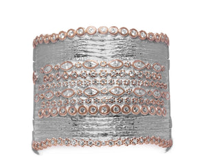 Thai Rose Gold Majesty front view | Girls' Cuff | Kukka Jewelry