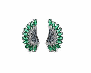 Leaves Green main view | Girls' Earrings | Kukka Jewelry