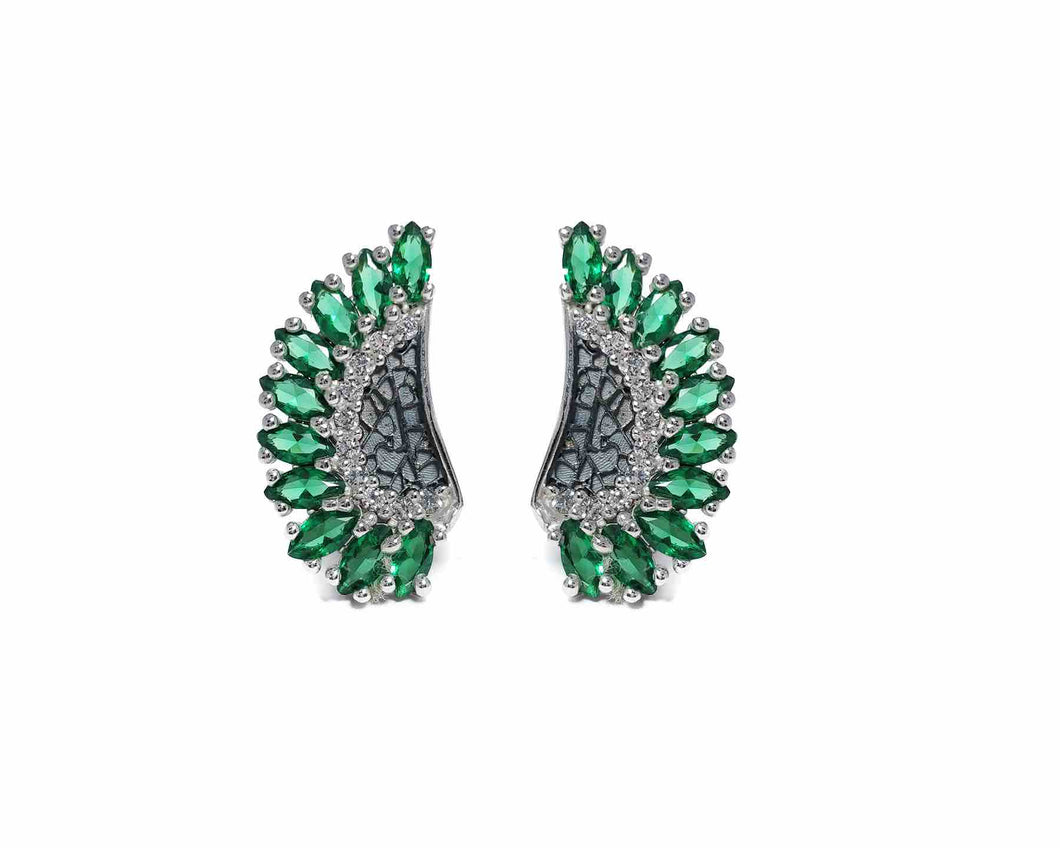 Leaves Green | Girls' Earrings | Kukka Jewelry
