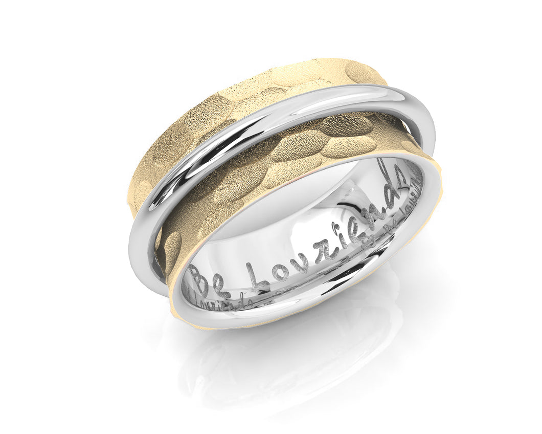 Ladies' 18kt Gold Plated Ring 'Gold Halo '
