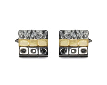 Men's Cufflinks black Gold | Blaze Magma Unearth main view | Kukka Jewelry
