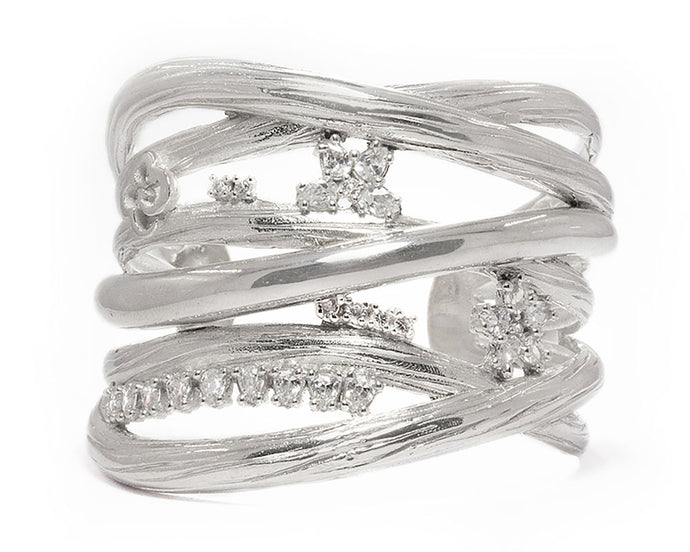 Ladies' 'Sweet Vanilla Tangle ' Bracelet with Plated White Gold