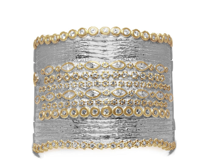 Thai Gold Majesty main view | Ladies' Cuff | Kukka Jewelry