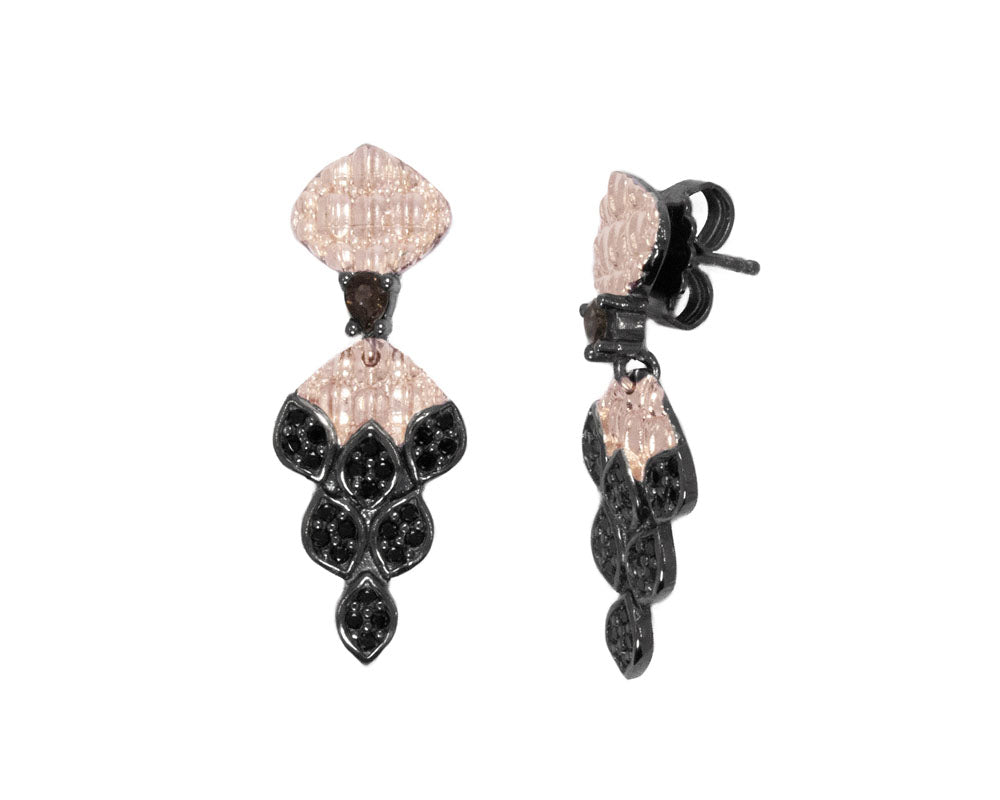 Caiman Nocturne side view | Ladies' Earrings | Kukka Jewelry