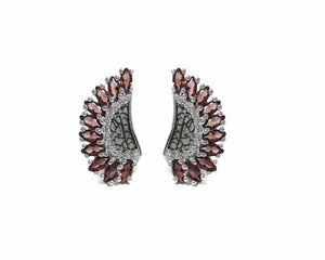 front Leaves Brown | Ladies' Earrings | Kukka Jewelry