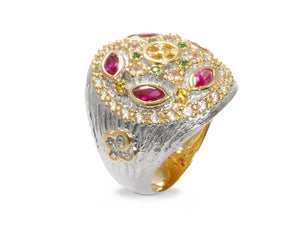 18kt Gold Plated 'Thai Splash Imperial ' Ladies' Ring