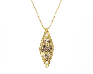 Ladies' Gold Pendant main view | Atacama Cliff | Kukka Jewelry