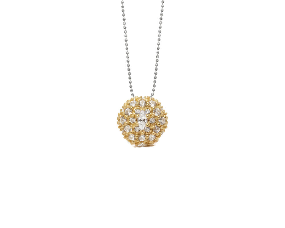 Gold Silver Plated Necklace for Ladies | Thai Gold Pollen | Kukka Jewelry