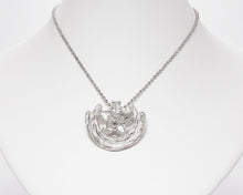 Necklace for Her | Sweet Vanilla Bliss model view | White Gold Plated | Kukka Jewelry