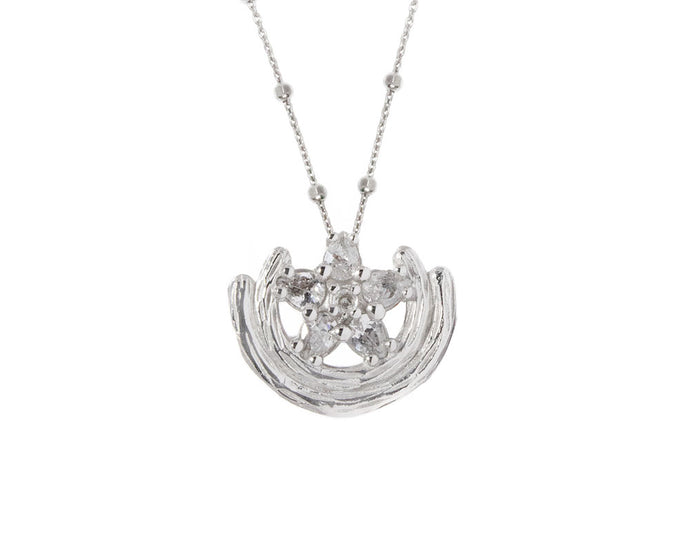 Necklace for Her 'Sweet Vanilla Bliss ' White Rhodium