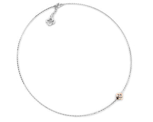 Necklace Rose Gold Plated for Ladies 'Kukkadas Silver Charm Me '
