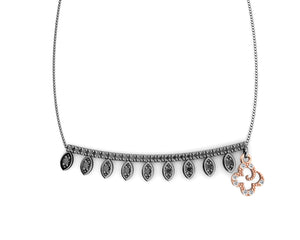 Necklace for Girls Silver Plated in Rose Gold 'Kukkadas Shadow Skirt '
