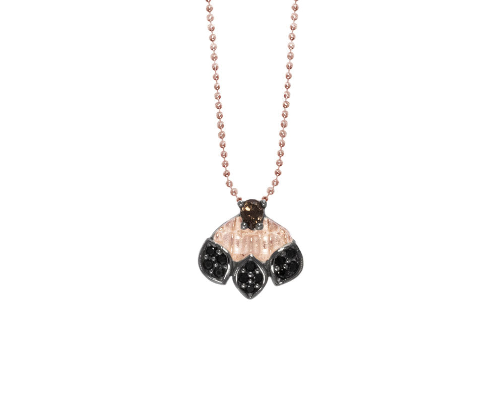 Pendant for Ladies Rose Gold Plated 'Caiman Bloom '