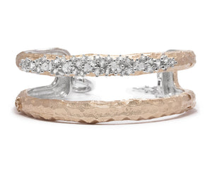 Rose Moon Frostbite main view | Silver Plated in Rose Gold Bracelet for Women | Kukka Jewelry