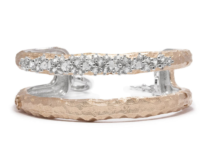 Bracelet Pink Gold Plated for Women 'Rose Moon Frostbite'