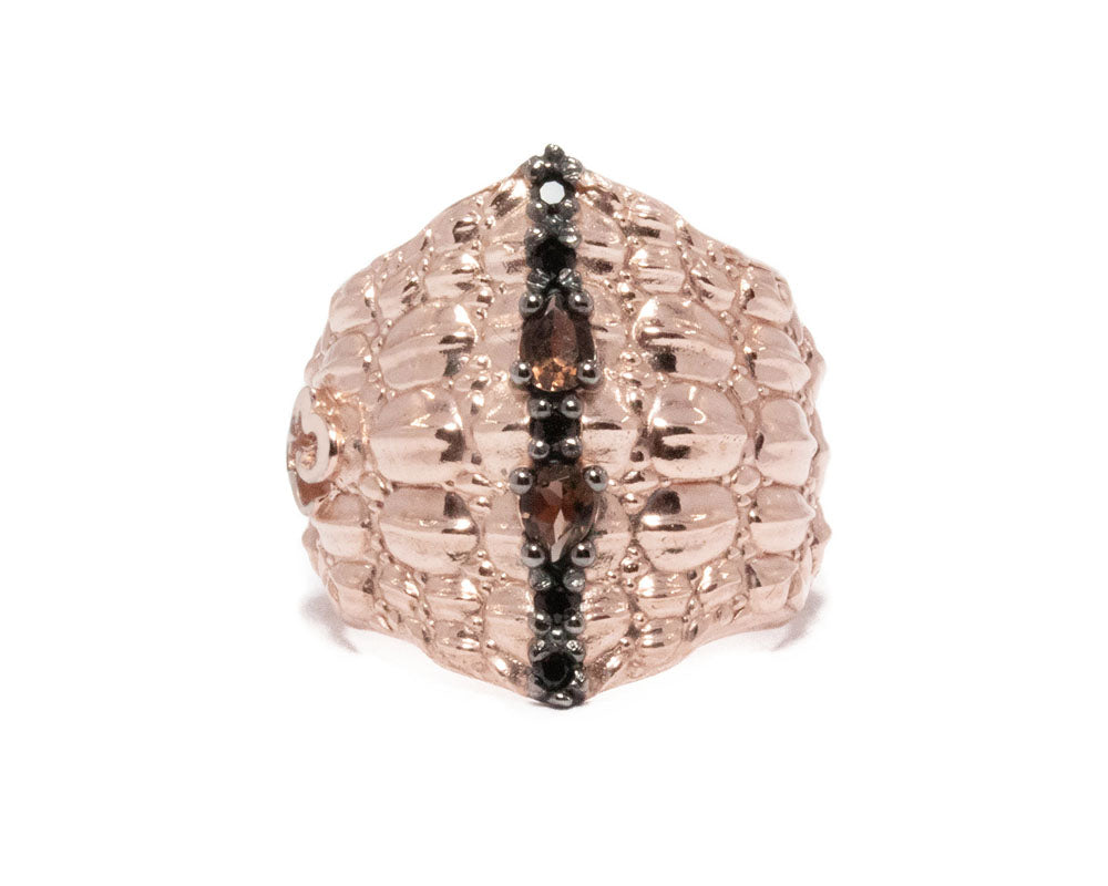 Ring for Girls | Caiman Gaze main view | Rose Gold Plated | Kukka Jewelry