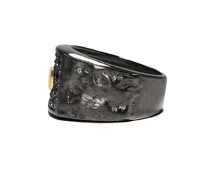 Blaze Magma Compass left view | Ring for Men | Kukka Jewelry