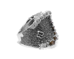 Ring for Women Side Right | 18kt White Gold | Kukka Jewelry
