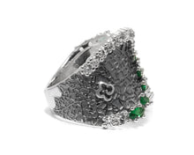 Ring for Women side view | 18kt White Gold | Kukka Jewelry