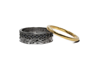 Ring Black Rhodium for Him 'Blaze Magma Convection'