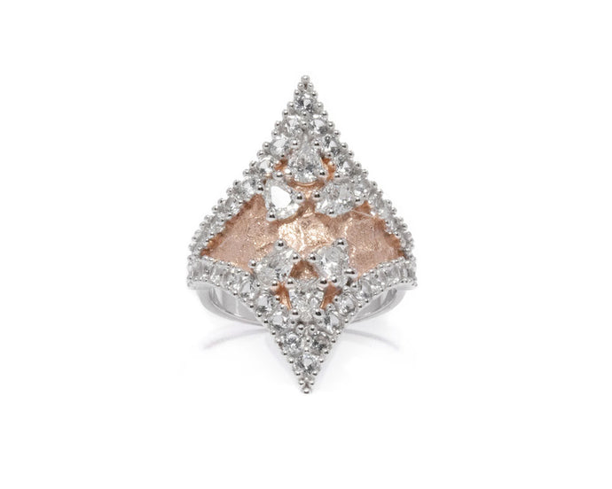Ring for Her 'Rose Moon Princess ' Rose Gold Plated