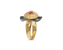 Thai Splash Shadow Flower main view | Ring for Her | 18kt Yellow Gold Plated | Kukka Jewelry