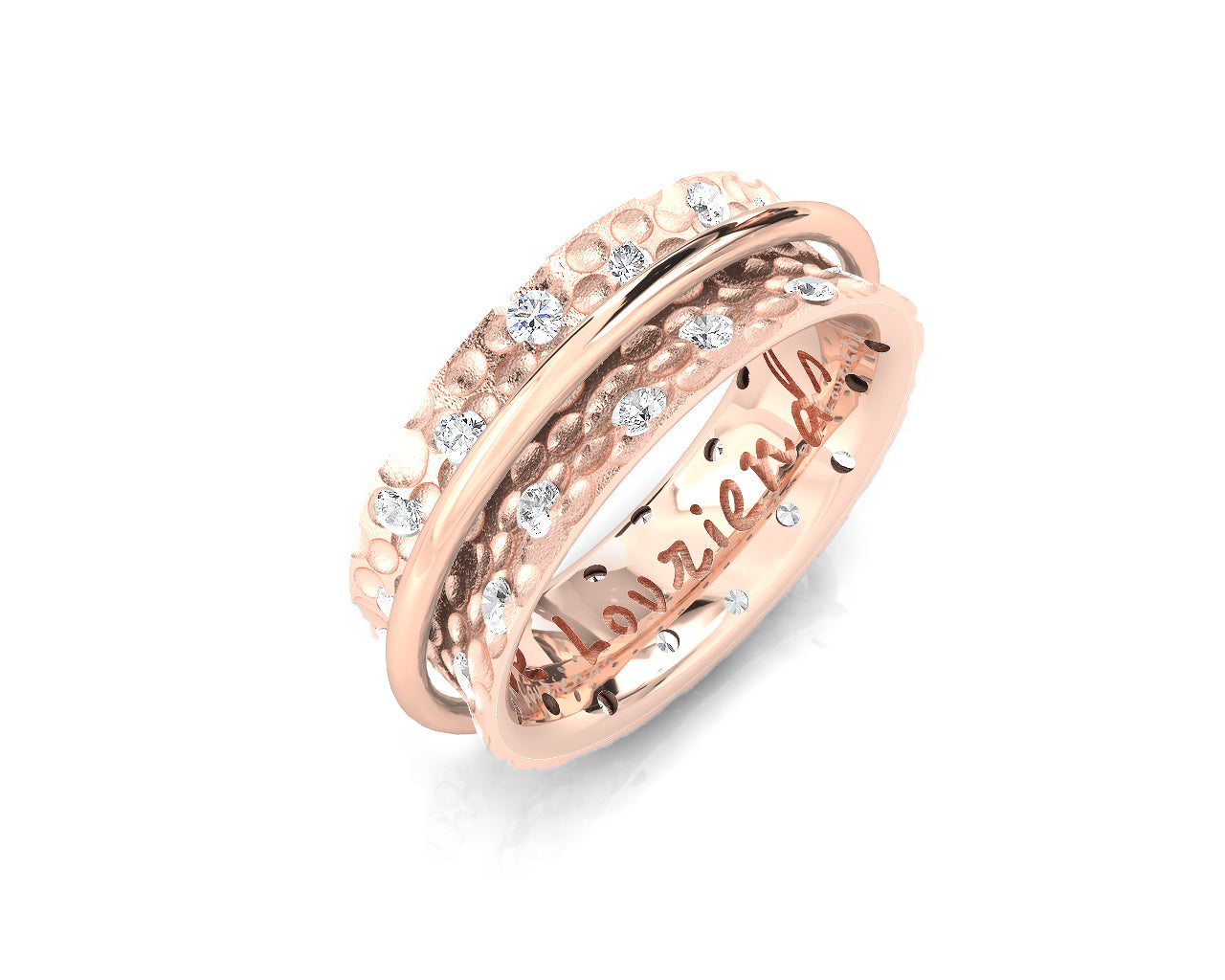 Rose Gold Plated 'Rose Gold Fellowship ' Ladies' Ring