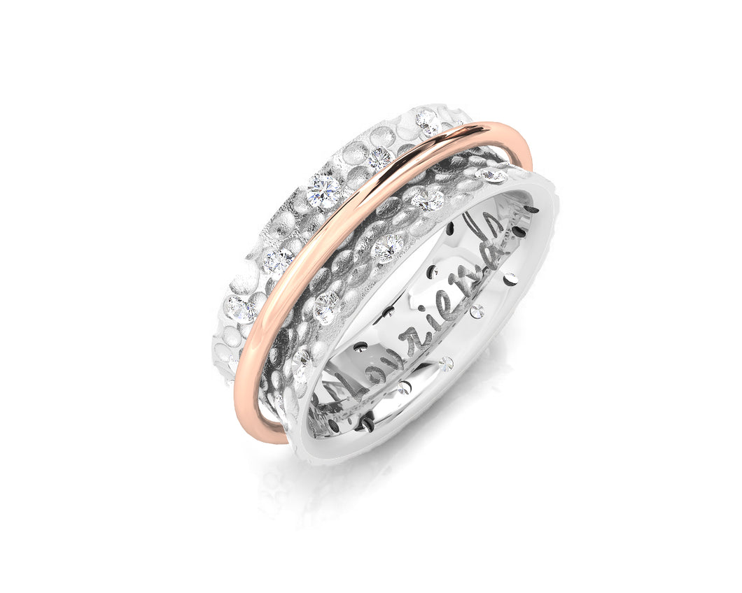 Rose Gold Plated Ring for Her 'Silver Fellowship '