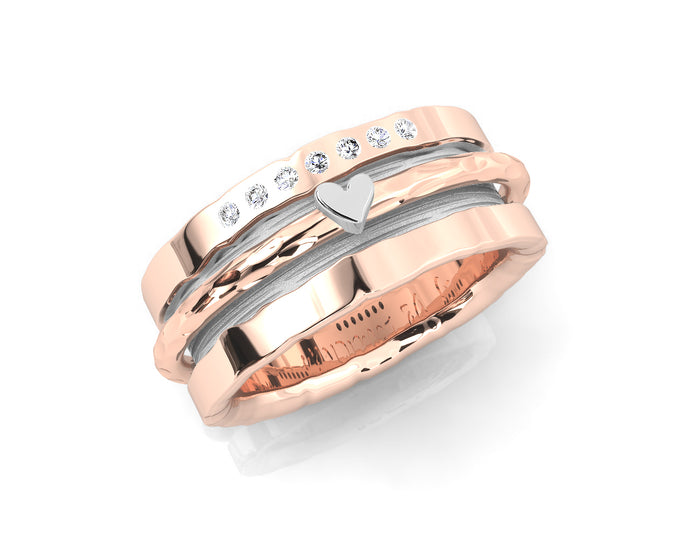 Pink Gold Plated Ring for Ladies 'Rose Gold Sweetheart '