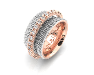 Ring Rose Gold Plated for Women 'Rose Gold Light of My Eyes '