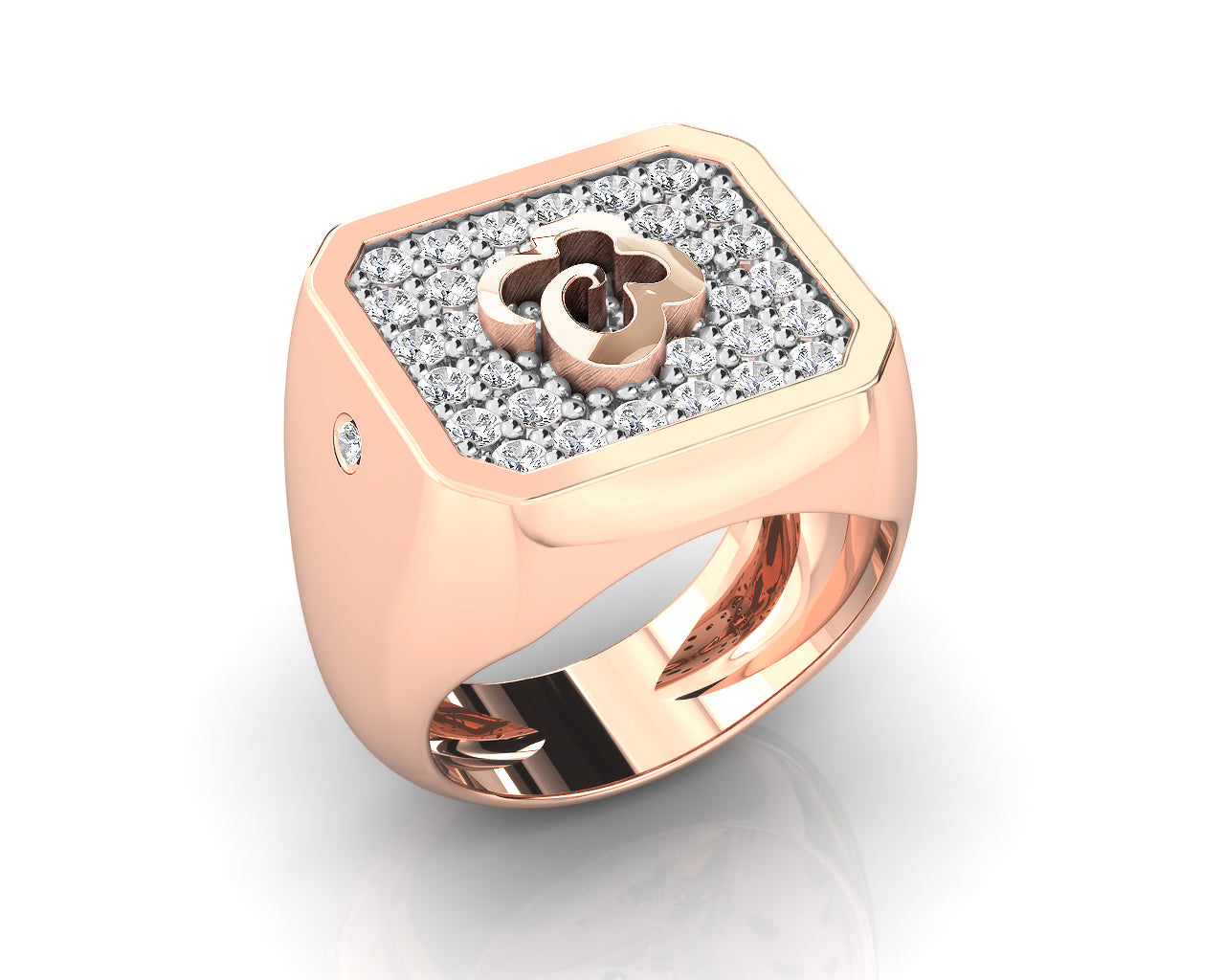Ring for Girls 'Kukkadas Silver Corsage ' Pink Gold Plated