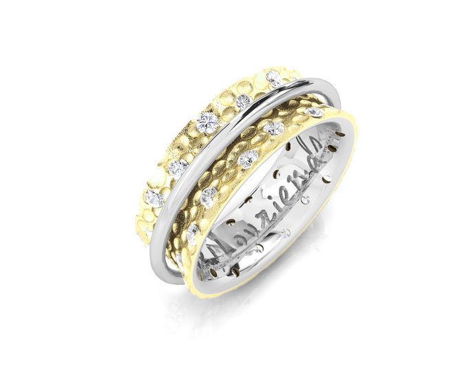 18kt Yellow Gold Plated Ring for Women 'Gold Fellowship '
