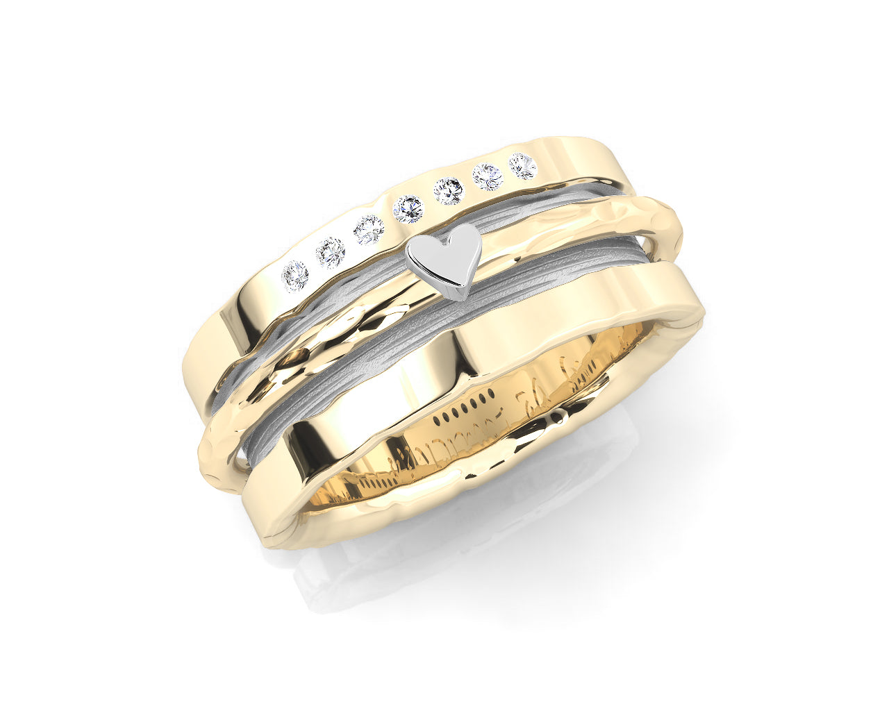 Girls' Ring Gold Plated Silver 'Gold Sweetheart '