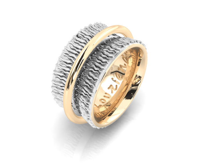 Girls' Ring Gold Plated Silver 'Gold Highlight '