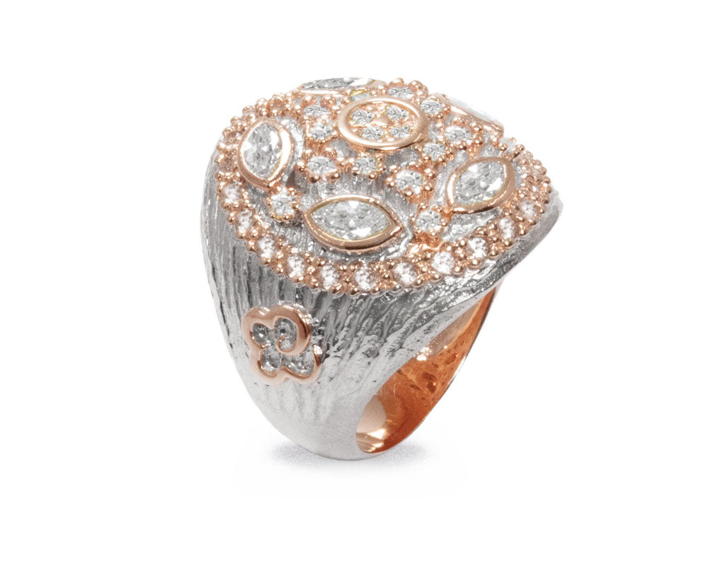 Thai Rose Gold Imperial | Rose Gold Plated Ring for Girls main view | Kukka Jewelry