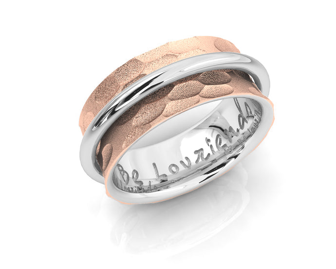 Women's Rose Gold Plated Sterling Silver Ring 'Rose Halo '