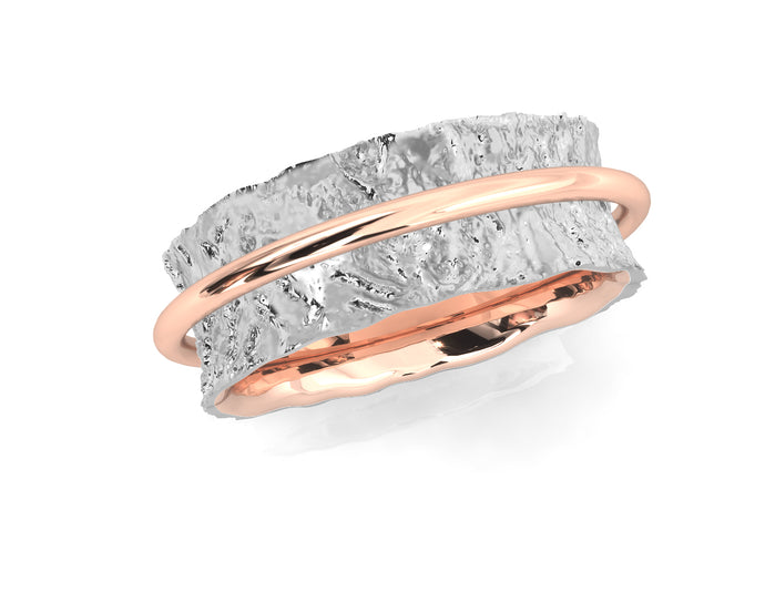 Girls' 'Rose Soar ' Ring Rose Gold Plated Silver