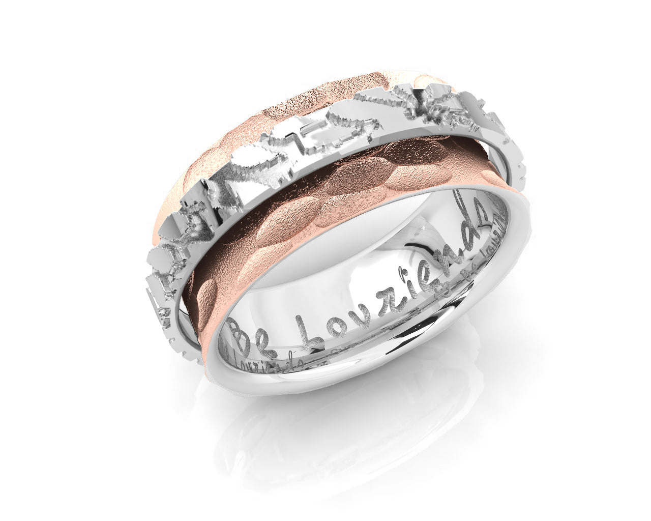 Ring Rose Gold Silver Plated for Women 'Silver Lining '