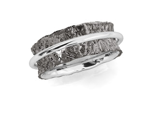 Ring for Her 'Silver Soar ' White Rhodium Plated Sterling Silver