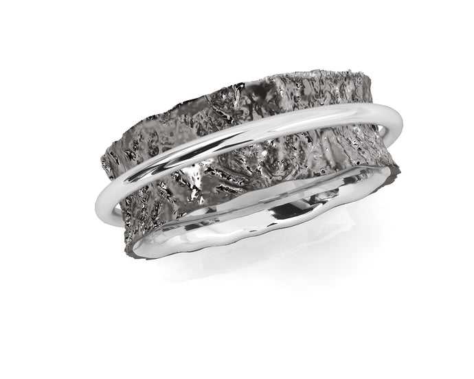 Ring for Her 'Silver Soar ' White Rhodium Plated
